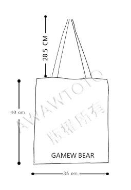 泰國 潑墨系列【GAMEW BEAR】設計師款  藝術 文青 中性 托特包 手提袋 #GA011