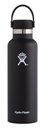 【美國代購】Hydro Flask雙層真空絕緣不銹鋼防漏運動水壺,標準口,無BPA柔性帽