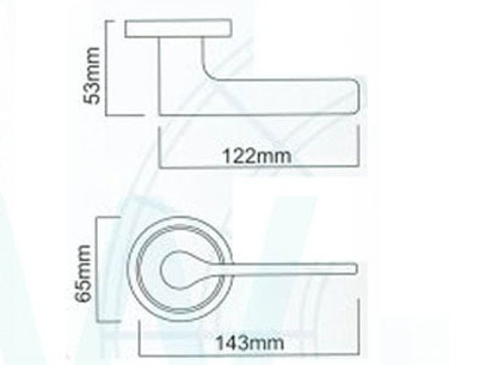 LS-700-1 SN 日規水平鎖51mm 白鐵色 (三鑰匙)大套盤 把手鎖 房門鎖 通道鎖 客廳鎖 辦公室門鎖