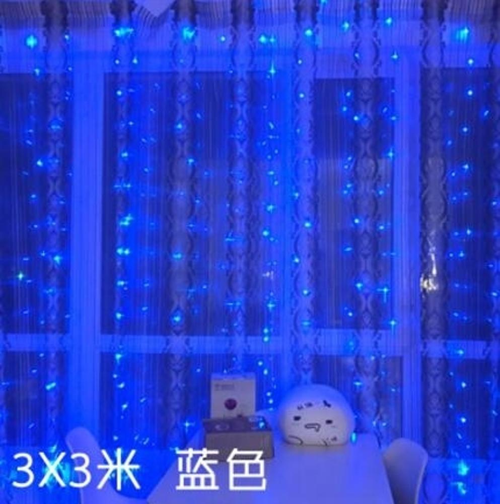 LED窗簾燈彩燈閃燈串燈滿天星少女心房間裝飾燈小燈串220v 女神節樂購