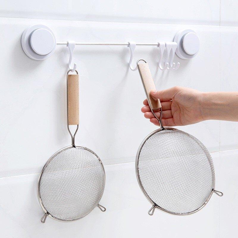 現貨◎雙耳麵粉篩子 篩網 糖粉篩 豆漿過濾網 濾油勺 撈麵勺 撈水餃 炸物過濾網