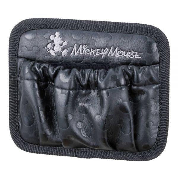 權世界@汽車用品 日本 NAPOLEX Disney 米奇 本革調 手機袋 置物袋 收納袋 WD-211