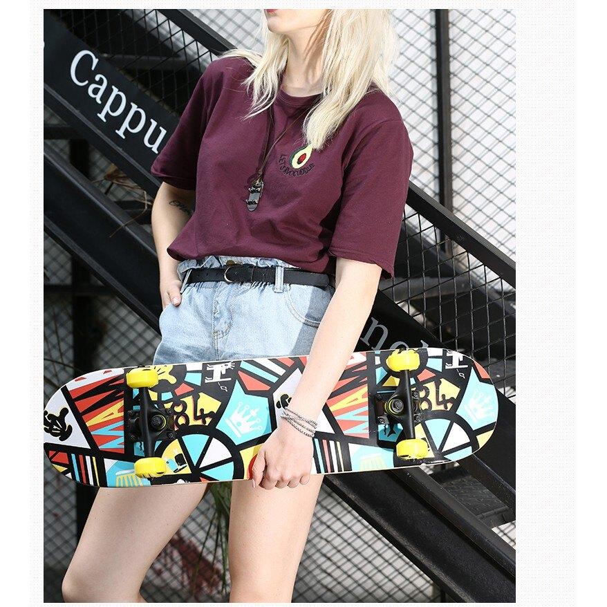 滑板長板雙翹板刷街滑板初學者青少年男女滑板 NMS