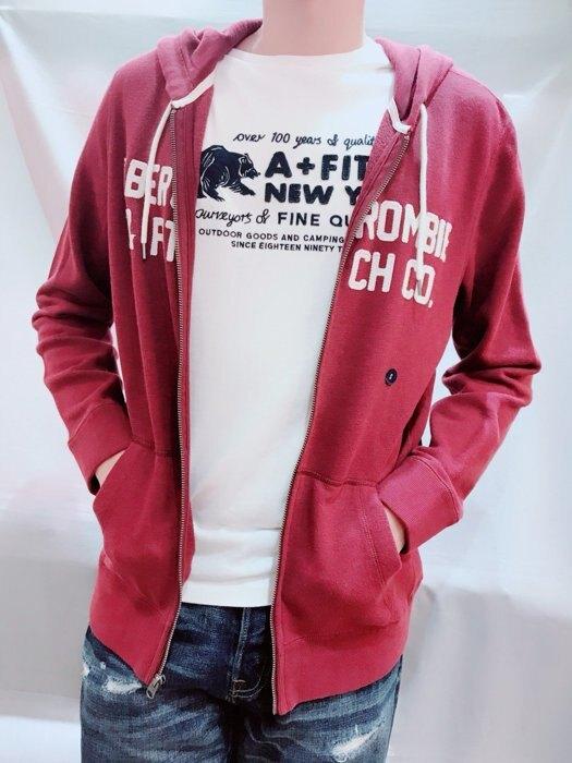 A&F 麋鹿LOGO英文字 男生 標誌連帽外套 Abercrombie&FITCH 麋鹿公主 歐美時尚 平行輸入精品店
