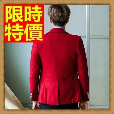 ☆毛呢外套 男西服-羊毛加厚單扣修身男西裝外套1色63af10【韓國進口】【米蘭精品】