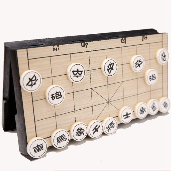中國象棋兒童成人家用大號折疊磁性棋盤學生仿實木象棋套裝