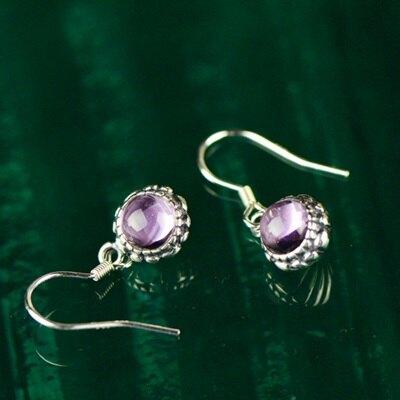 925純銀耳環紫水晶耳飾-古典氣質垂吊式優雅生日情人節禮物女飾品73jh77【獨家進口】【米蘭精品】