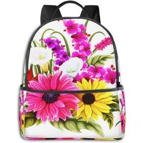 リュック リュックサック PCバック ビジネスリュック 大容量 ラップトップ バックパック 男女兼用 アウトドア旅行防水 ひまわり花花束
