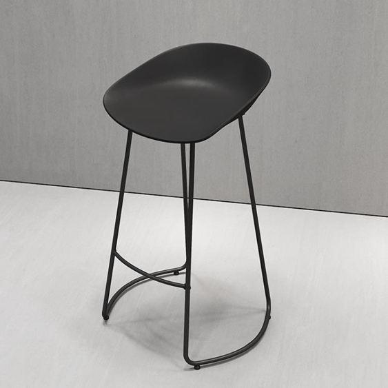 北歐鐵藝創意簡約時尚酒吧臺椅凳子休閑咖啡廳前臺高腳凳
