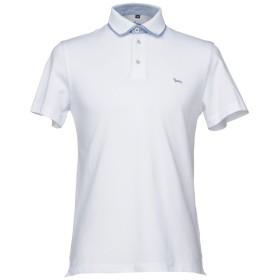 《セール開催中》HARMONT & BLAINE メンズ ポロシャツ ホワイト 4XL コットン 94% / ポリウレタン 6%