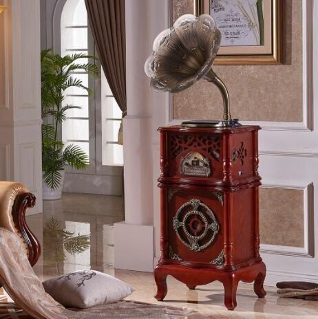 名伶167老式留聲機復古黑膠唱片機大喇叭音響客廳歐式家用電唱機