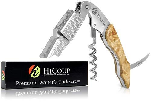 【美國代購】HiCoup專業服務員的開瓶器 - 百盈木柄一體式開瓶器 鋁箔切割器