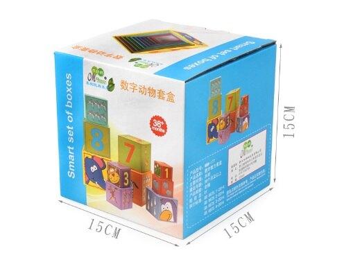 【晴晴百寶盒】預購 可愛方形10層數字套杯 寶寶过家家玩具 角色扮演 積木 秩序智力提升 練習 禮物 平價促銷 P086