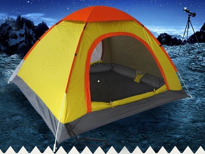 帳篷3人-4人游戲屋全自動野營戶外加厚防雨露營家庭郊游野炊  HM 全館八八折