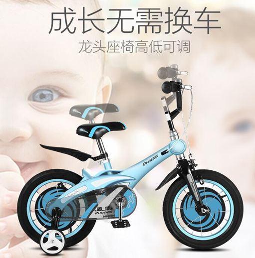 兒童單車 鳳凰兒童自行車12/14/16寸男女寶寶單車2-3-6-8歲小孩童車山地車ATF 極客玩家