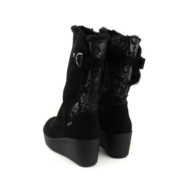 IMAC 靴子 長靴 義大利製 厚底 黑色 鋪毛 女鞋 208179.7150.011 no031