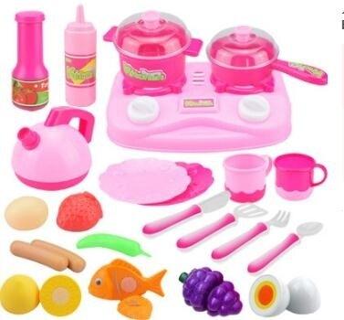兒童過家家玩具女孩煮做飯廚房玩具寶寶仿真迷你蛋糕餐具套裝組合jy