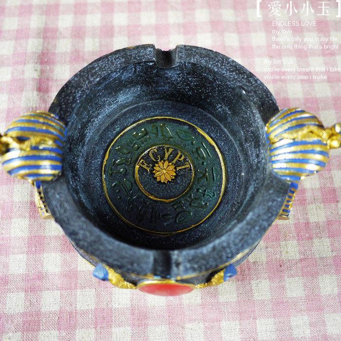 【埃及法老:聖甲蟲煙灰缸】時尚主題酒吧會所 趣味家居飾品擺件(一個價)(圖一)