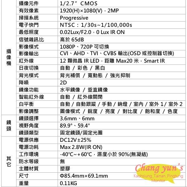 大華 監視器 套餐 DHI-XVR5104HS 4路主機+DH-HAC-HDW1200RN 200萬畫素 攝影機*2