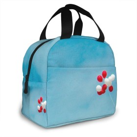 保冷バッグ エコバッグ ランチバッグ 買い物バッグ 風船 赤い 手提げバッグ おしゃれ 保冷保温