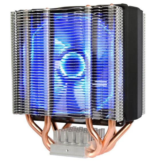 散熱器 鐵塔CPU散熱器AMD 775/115臺式機電腦藍光智慧靜音cpu風扇