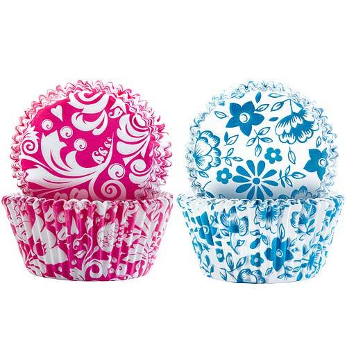 《IBILI》Sweet蛋糕紙模100入(紅藍花卉7.5cm)