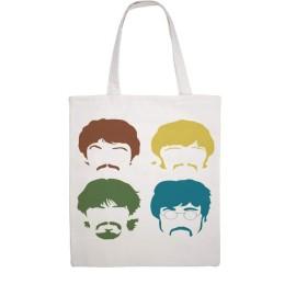 ビートルズ 4人のメンバー 漫画 The Beatles (10) トートバッグ totebag キャンバス キャンパストートバッグ キャンバス エコバッグ ショッピングバッグ軽量 収納シンプル 肩掛け無地 環境保護 男女兼用 両面パターン