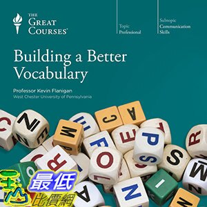 [106美國直購] 2017美國暢銷軟體 The Great Courses: Building a Better Vocabulary Audio CD