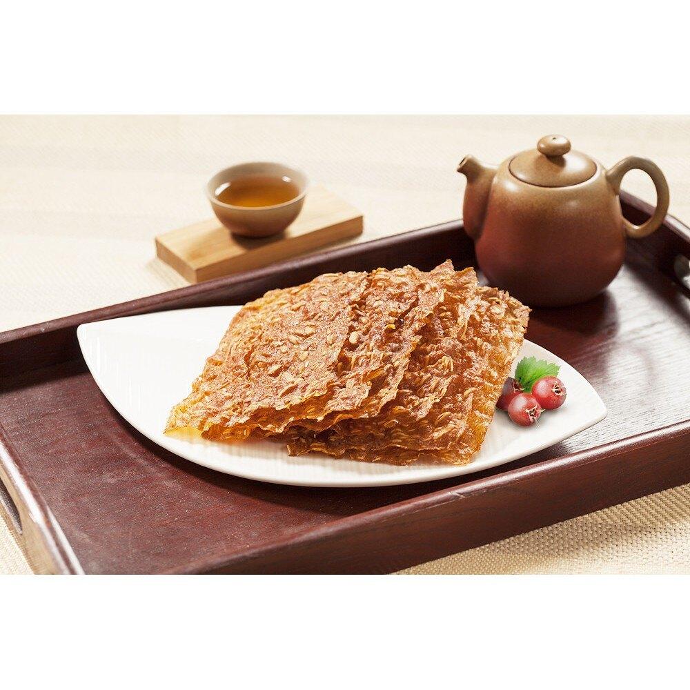 【金龍肉乾】 頂級蔬菜豬肉杏仁脆片 100g 獨家販售