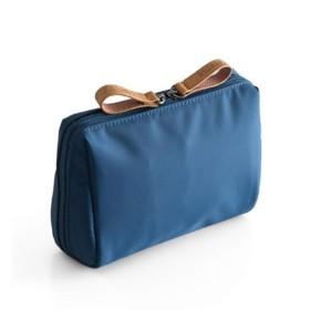 BIDLS 旅行用化粧品バッグシンプルレディミニウォッシュバッグ防水ポータブルハンドキャリー旅行用収納バッグ 持ち運びが簡単 (Color : Sea blue)