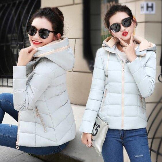 冬裝棉衣女短款韓版修身羽絨棉服反季小棉襖學生加厚外套 全館八八折