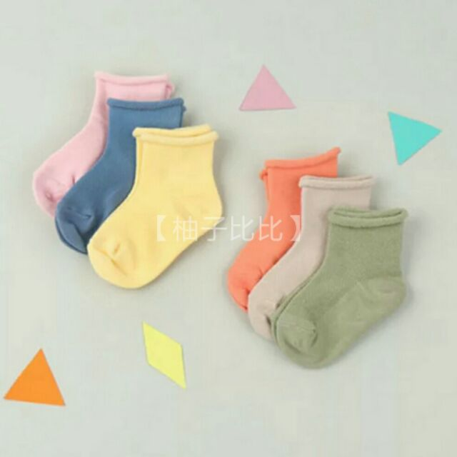 【柚子比比】(1-10歲全尺碼)寶寶鬆口襪/網眼織法好透氣素色襪/夏季網眼襪嬰兒襪子/幼兒襪/兒童襪/學生襪