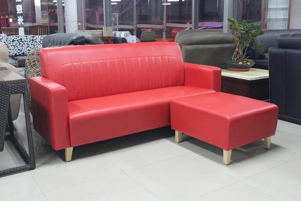 【石川家居 】TW-09 L型小沙發組 三人+腳椅兩件組 套房首選/民宿/日租套房/房東最愛 多款可選