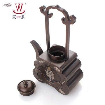 茶具古玩工藝銅茶壺 擺件