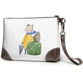 クラッチバッグ ビジネスバッグ バッグ 防水バッグ リス 荷物 傘 スカーフかわいい 漫画 旅行 セカンドバック メンズ レディース 鞄 人気 クラッチ 本革