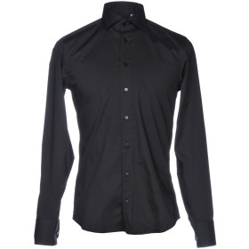 《セール開催中》BASTONCINO メンズ シャツ ブラック 37 コットン 97% / ポリウレタン 3%