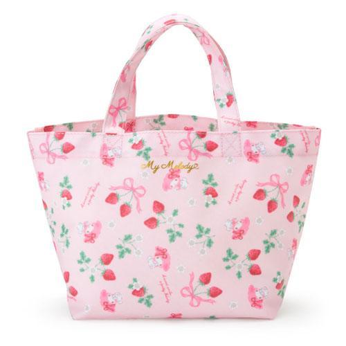 大賀屋 日貨 MELODY 手提包 包包 化妝包 零錢包 防水包 便當袋 女包 小包 美樂蒂 正版 J00016114
