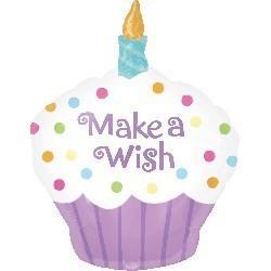 蠟燭杯子蛋糕氣球