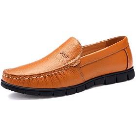 [シュウカ] スニーカー イエロー メンズ ランニングシューズ カジュアル スリッポン 靴 スポーツ 滑り止め 24.5cm 軽量 通気快適 履きやすい 運動靴 ジョギング 軽量 通勤 通学 日常着用 アウトドア ウォーキングシューズ
