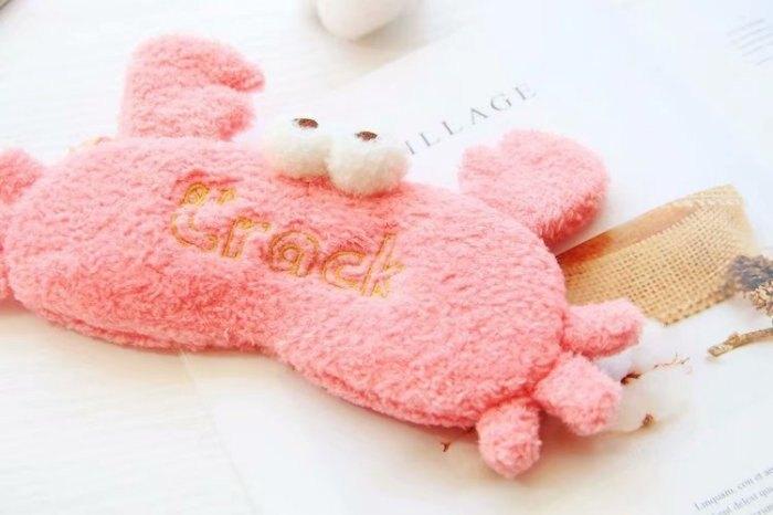 韓國超級可愛聖誕老公公 雪人聖誕老人 粉紅螃蟹眼罩 遮光眼罩 幫助睡眠 毛毛兔 睡覺眼罩 聖誕交換禮物