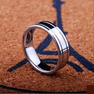 白鎢金戒指指環 時尚流行飾品 簡約中性戒子雜誌款