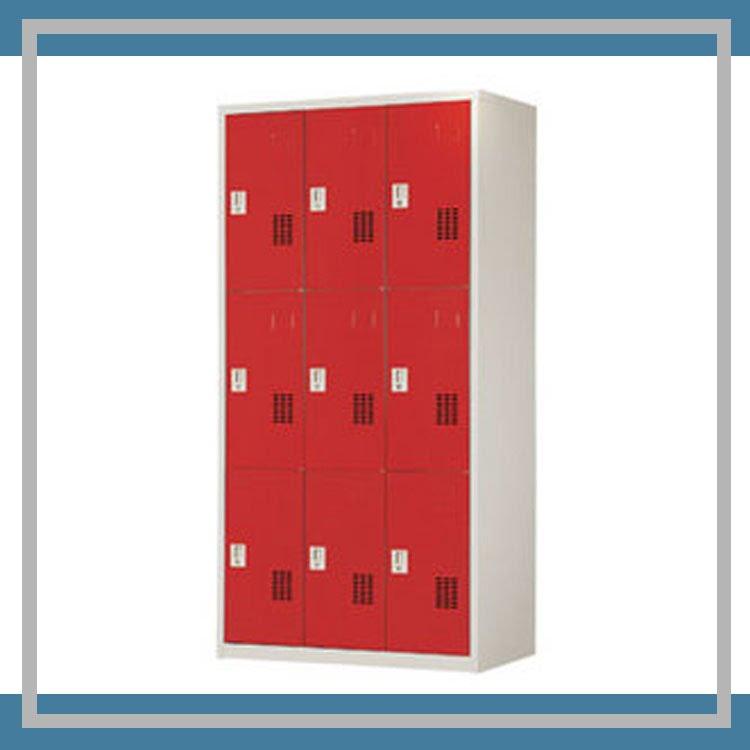 『商款熱銷款』【辦公家具】PS-3606-B 紅色6人用衣櫃 資料文件檔案櫃 櫃子 檔案 收納