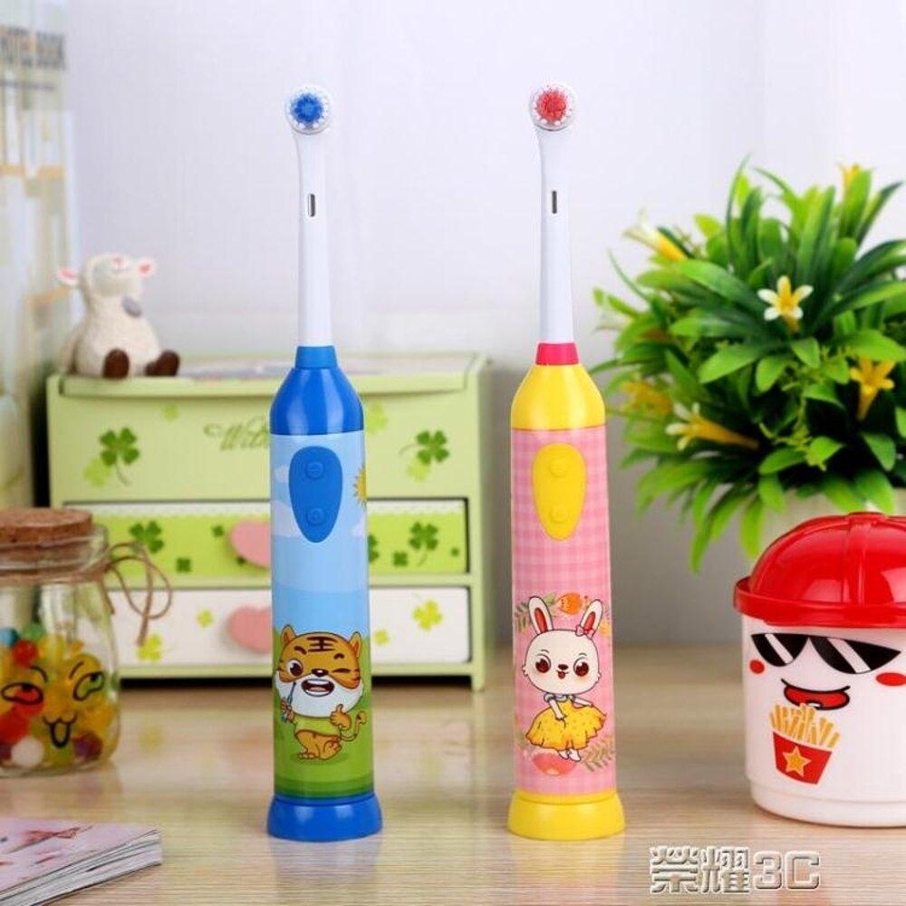 免運 電動牙刷 兒童電動牙刷 兒童軟毛 361215歲寶寶自動牙刷 防水 4頭