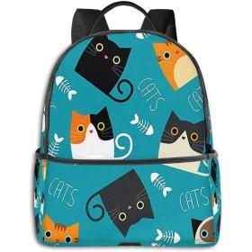 リュック リュックサック PCバック ビジネスリュック 大容量 ラップトップ バックパック 男女兼用 アウトドア旅行防水 かわいい猫6