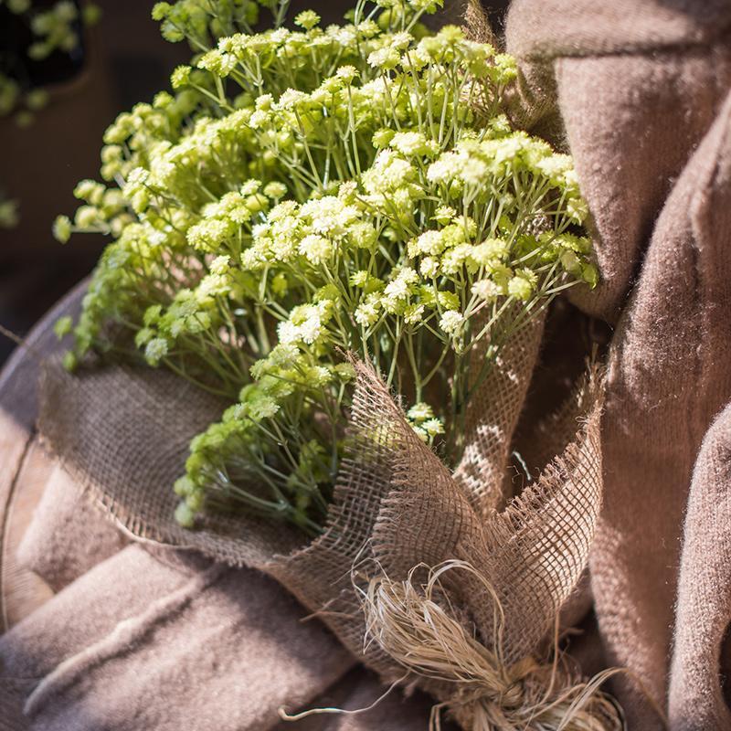 仿真花滿天星 手感膠仿真假花 干花裝飾花束插花花藝1入