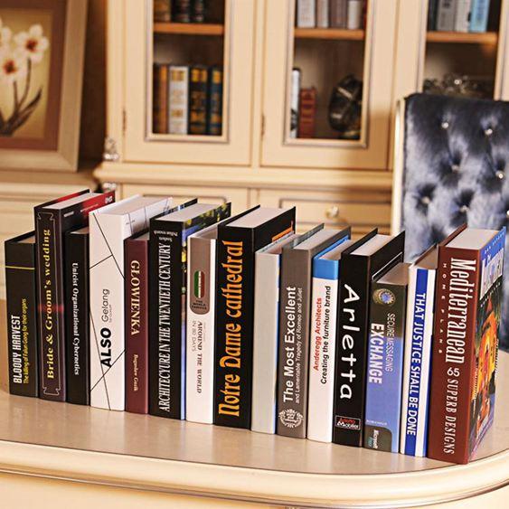 裝飾書北歐現代仿真書裝飾書假書創意家居擺設樣板房裝飾品家具擺件