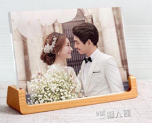實木相框擺臺創意7寸5 6六七寸像框兒童寶寶照片框韓式相架