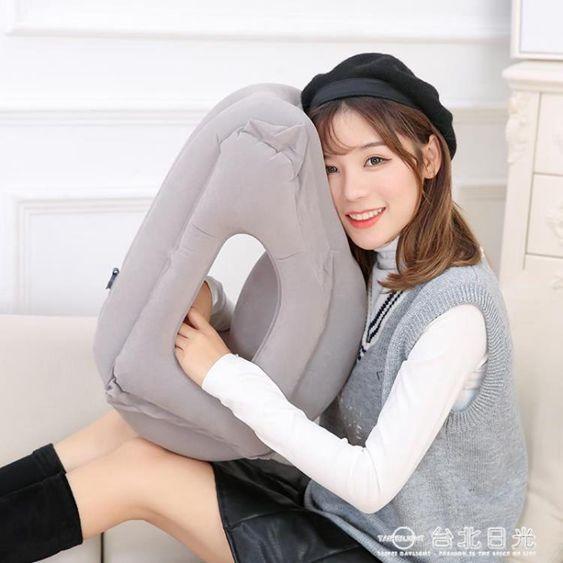 旅行枕護頸枕充氣U型枕便攜u形抱枕高鐵睡覺靠枕頭趴睡枕