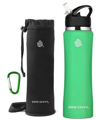 【美國代購】SWIG SAVVY不銹鋼水壺 無BPA真空絕熱雙壁寬口設計