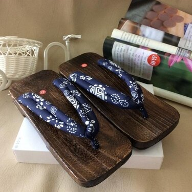 木屐鞋 日本燒桐男式款木屐方頭木拖鞋人字夾腳拖鞋平跟木板鞋人字拖 全館八八折